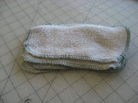 Reusable cloth baby wipes