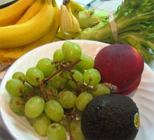 Vegetables and fruit for smoothies