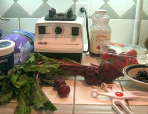 Purple fruits and vegetables for smoothies