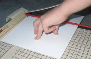DIY Reused Notepad cutting paper