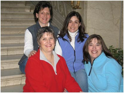 Shirley Phillips, Debbie Phillips, Jennifer Field, and Andrea Phillips