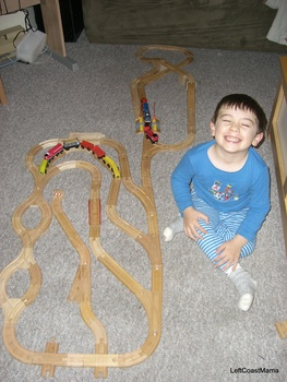 Aidan and some intricate track.