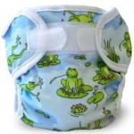 Super Whisper Wrap Froggy Pond print