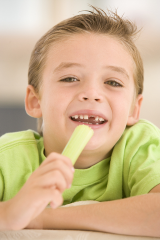 Child eating celery