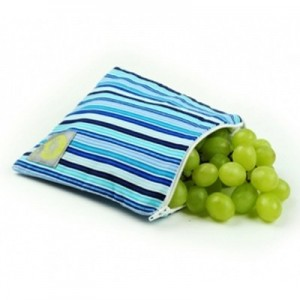 Itzy Ritzy blue striped reusable sandwich bag