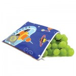 Reusable snack bag with zipper