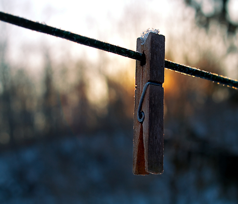 Winter clothes line