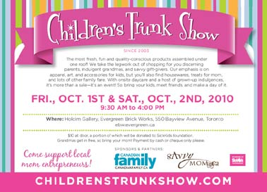 Children's Trunk Show in Toronto