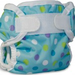 Bummis Super Brite polka dot blue berry print