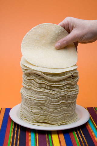 Corn tortillas are wheat-free and easy to find