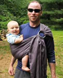 Sakura Bloom ring sling for dads