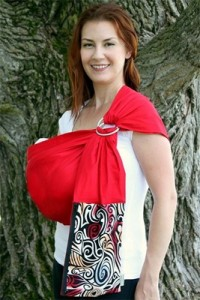 Upmama baby ring sling made in Canada