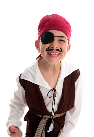 Child pirate ready to party