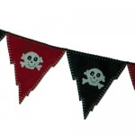Reusable pirate party banner