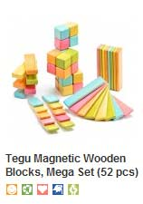 Sustainable wooden toy blocks