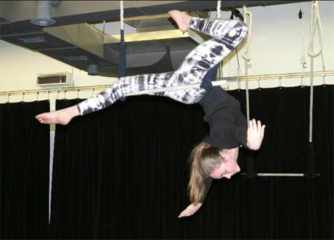 Teen on trapeze