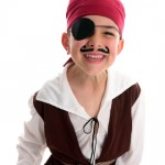 Young boy dressed as a pirate