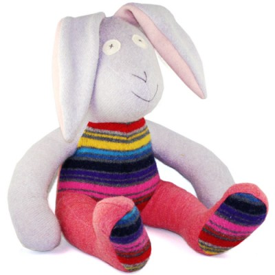 Handmade wool stuffed bunny
