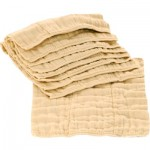Unbleached cotton prefold cloth diapers