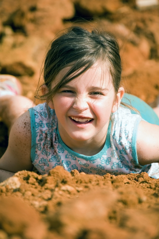 Child playing in dirt