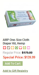 AMP one-size cloth diapers