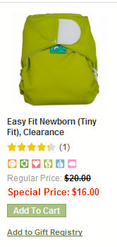 Easy Fit aio cloth diapers for newborns