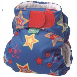 Easy Fit all in one cloth diaper star print