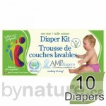 AMP one-size diaper kit bamboo
