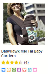 BabyHawk baby carrier at bynature.ca