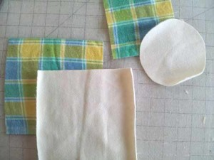 Pieces for sewing an easy cloth doll