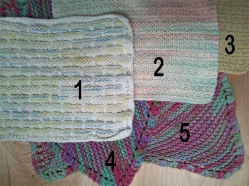 Old knit washcloths