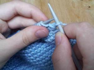 Finish knit stitch