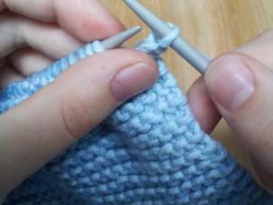 One stitch bound off