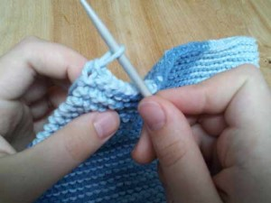 The last knit stitch