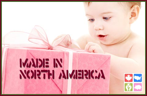 We choose products made in Canada and made in USA
