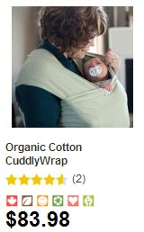 Cuddly Wrap organic cotton baby carrier