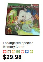 Endangered Species Memory Game