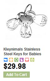 Kleynimals Key Ring for Baby