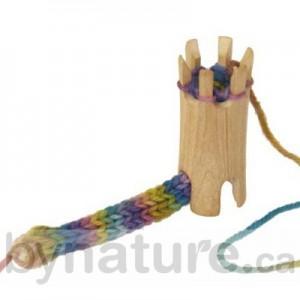 Wooden knitting spool