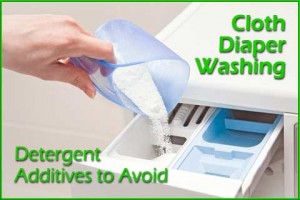 Cloth diaper detergent additives to avoid