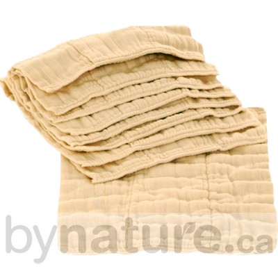 Organic cotton prefold cloth diapers