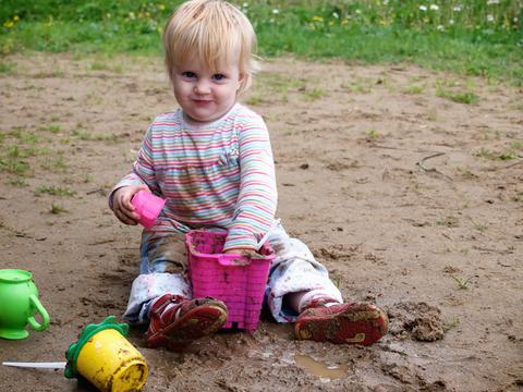 Toddler play in mud