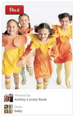 Easy flower costume for kids