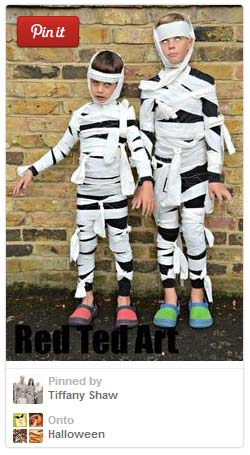 Easy mummy costume for kids