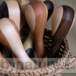 Natural wood baby rattle made in Canada