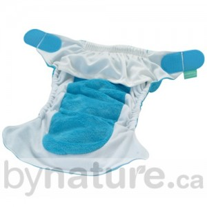 All-in-one one-size diaper