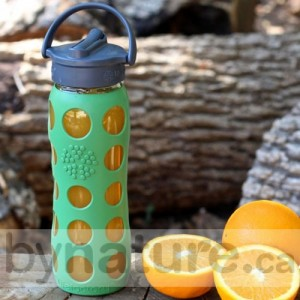 Lifefactory reusable glass water bottles