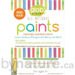 Glob natural paints for kids