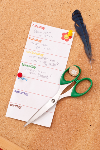 Simple family schedule