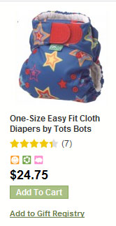 Easy Fit all in one one side cloth diaper